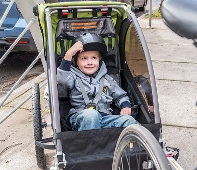 Baby Bike Trailer - Sitting